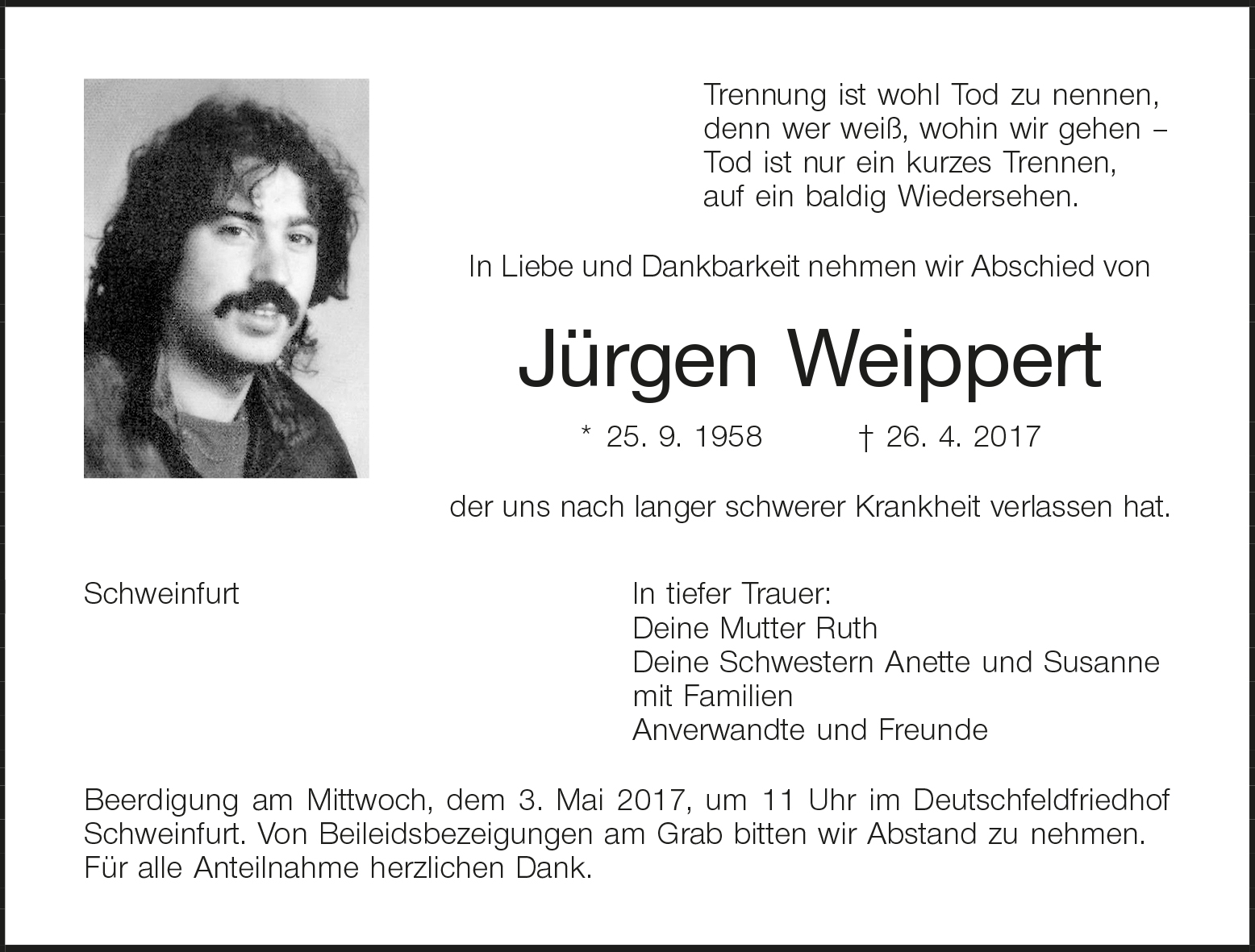 Traueranzeigen Schweinfurter Tagblatt